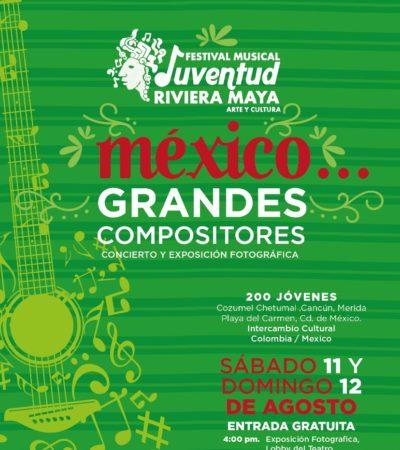 Anuncian Festival Musical 'Juventud Riviera Maya 2018'