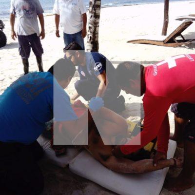 Se descompresiona pescador en Playa del Carmen