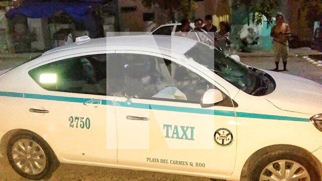 Atacan a balazos a un taxista en la colonia Ejidal de Playa del Carmen