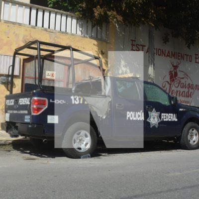 Prenden fuego a una patrulla de la Policía Federal en Playa del Carmen