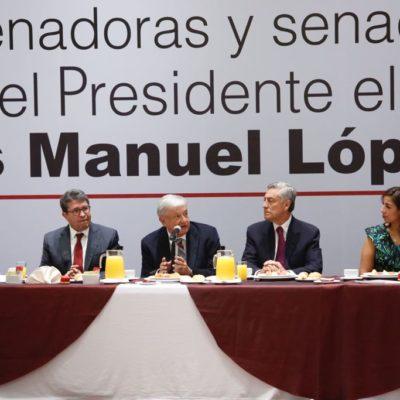 Participa Marybel Villegas en reunión con AMLO donde se planteó reducción de 30% al presupuesto del Senado