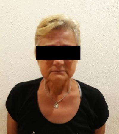 Detienen en Cancún a mujer italiana con lote de joyas obtenidas de manera ilegal al pagar con billetes falsos en un negocio de Mérida