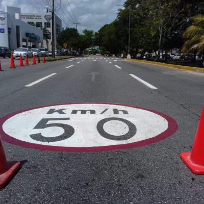 Todo listo para el inicio del par vial en la Avenida Cobá de Cancún a partir de este lunes 20 de agosto