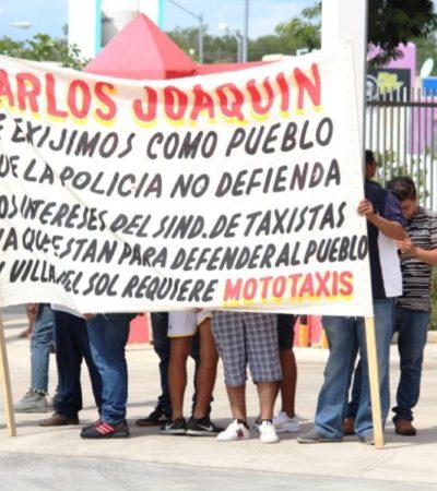A pesar de las protestas de mototaxistas en Villas del Sol, Sintra dice que no es un transporte permitido; continuarán los operativos