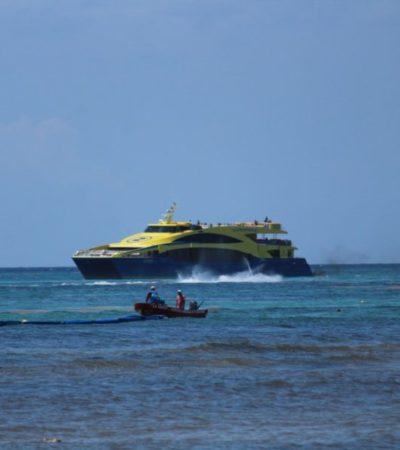 Anuncia SEMA que el día de mañana se colocarán las primeras barreras antisargazo en Playa del Carmen