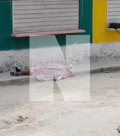 YA LO ESTABAN ESPERANDO Y LE DISPARARON: Ejecutan a balazos a un hombre en el poblado Nuevo Nocbé, en la zona poniente de Playa del Carmen