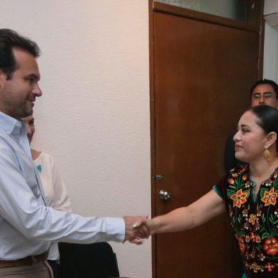 FINAAALMENTE, PERLITA RECIBE A DELBOUIS: Tras encuentro en Cozumel, formalizan inicio del proceso de entrega-recepción a partir del lunes