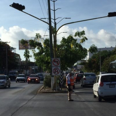 Provoca confusión la entrada en vigor de la prohibición de la vuelta a la izquierda en la Kabah hacia la Chichén Itzá