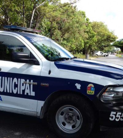 Hallan cuerpo de presunto indigente en camellón de la Avenida Chac Mool en Cancún