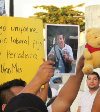 RECLAMAN FRENAR VIOLENCIA EN CANCÚN: Realizan marcha contra la impunidad y para exigir justicia por asesinato de camarógrafo