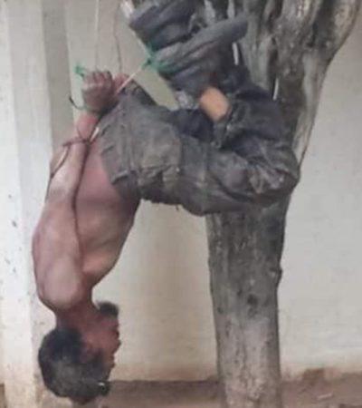 Torturan jovenzuelos a indigente con golpes, asfixia y quemaduras ante omisión policial
