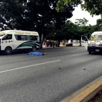 ACCIDENTE DE CAFRES EN PLENA AVENIDA TULUM: Un muerto y varios heridos, al chocar Turicun con dos TTE en Cancún