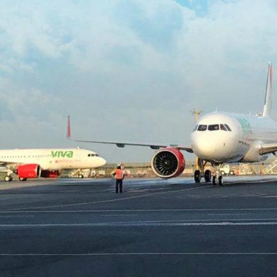 Aterriza apenas unos minutos después de despegar un avión de Viva Aerobús