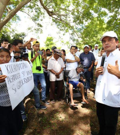CARLOS JOAQUÍN RECORRE KUCHAMATÁN: Destinan más de 17.7 mdp en obras que benefician a más de 3,600 habitantes de tres comunidades rurales de Bacalar