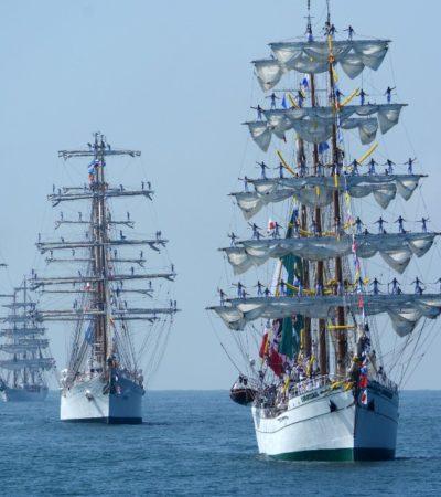 Arriban embarcaciones de 8 países al Puerto de Veracruz en el cierre de la Regata Velas Latinoamérica 2018