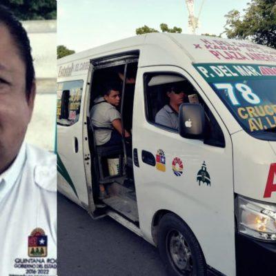 DEFIENDE RAMOS A LAS TTE DE CANCÚN: Director de Comunicaciones y Transportes se pronuncia por regularizar unidades de la empresa felixista-borgista antes que desaparecerla