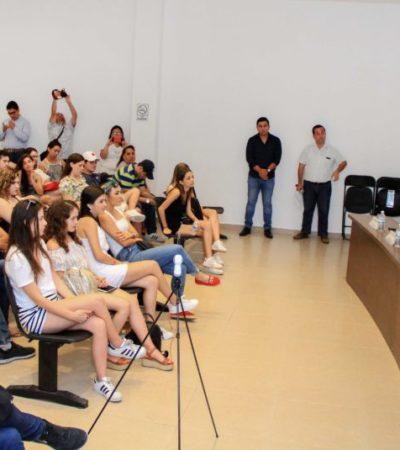 Gobierno de Puerto Morelos recibe a estudiantes del Tecnológico de Monterrey que trabajarán en seis proyectos de sustentabilidad en el destino