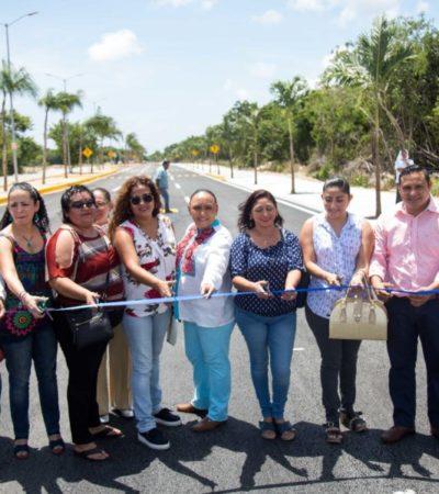 Cristina Torres inaugura la avenida 125 entre 38 y avenida sur que beneficiará a más de 20 mil ciudadanos diariamente