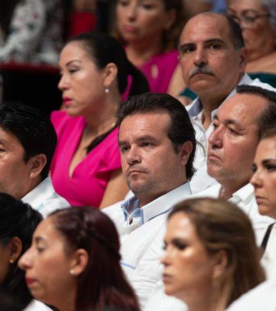 Asiste Pedro Joaquín a Segundo Informe del Gobernador y asegura que trabajarán de la mano