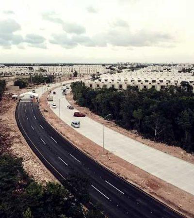 ENTREGAN PAVIMENTACIÓN DE LAS AVENIDAS 135 Y DURANGO: Con inversión de 14 mdp, concluyen obra que permite salida del llamado Polígono Sur hacia el bulevar Luis Donaldo Colosio