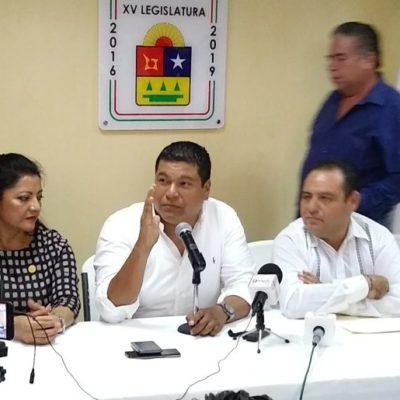 Diputados panistas ratifican apoyo a Carlos Joaquín; aseguran que hay buenos resultados en el desmantelamiento del sistema de impunidad y la lucha por revertir la concesión de Aguakan; arremeten contra Marybel Villegas