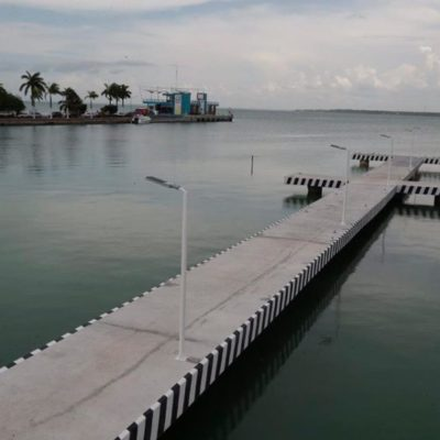La Apiqroo invierte en modernización y mejoramiento del muelle 'Nachi Cocom' en Chetumal para apostarle al turismo en la zona sur