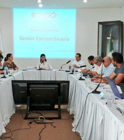 IEQROO considera improcedente las denuncias por supuesta discriminación contra Niurka Sáliva; integrantes del Consejo General aprueban el calendario del proceso local electoral ordinario 2018-2019