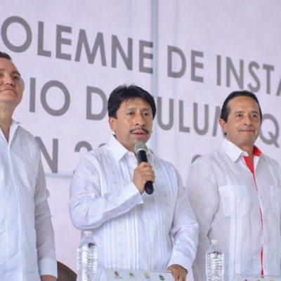 """""""Primeros actos de gobierno serán la creación del Instituto de Artes, Cultura y Tradiciones Mayas del Municipio de Tulum"""", se compromete Víctor Mas al rendir protesta"""
