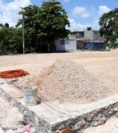 Infraestructura deportiva en construcción en la Región 93, beneficiará la convivencia de niños y adultos, afirma Remberto Estrada; la obra se suma a tres en diferentes regiones