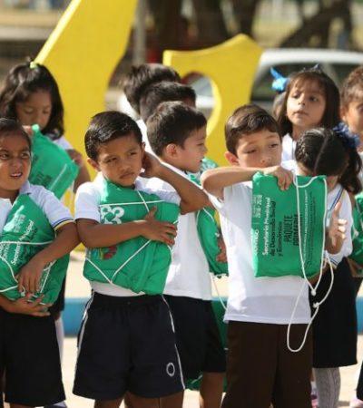 Inicia Alcalde la entrega de más de 125 mil paquetes de útiles escolares para cerca de 400 escuelas de educación básica y especial en Cancún