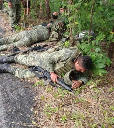 Mueren un militar y un civil en accidente vial en Chiapas