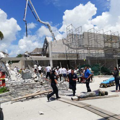 Contratista abandona a obreros accidentados en obra en Puerto Morelos