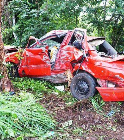 Estrella joven de 17 años su auto por conducir alcoholizado y a exceso de velocidad; él y dos acompañantes están graves