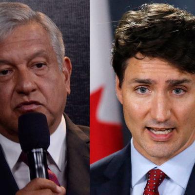 Comparte AMLO que Trudeau le pidió interceder con Trump para destrabar el Tratado de Libre Comercio