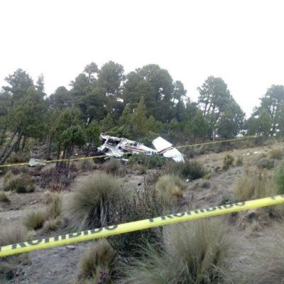 Deja tres muertos desplome de una avioneta en las faldas del Pico de Orizaba