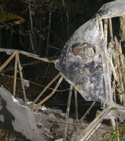 Inicia PGR investigación tras desplome de avioneta en Champotón, Campeche