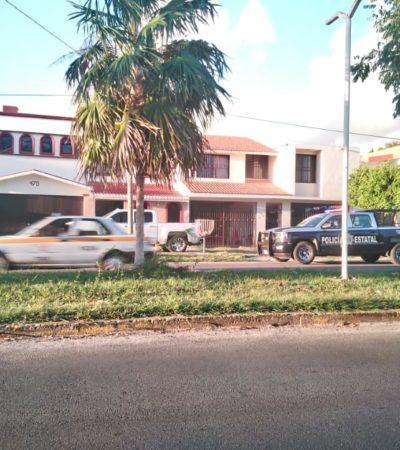 Vigilan policías casa de Pedro Flota en Chetumal, tras balacera