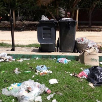 Denuncian que parques y calles de JMM se convierten en foco de infección por falta de recolección de basura