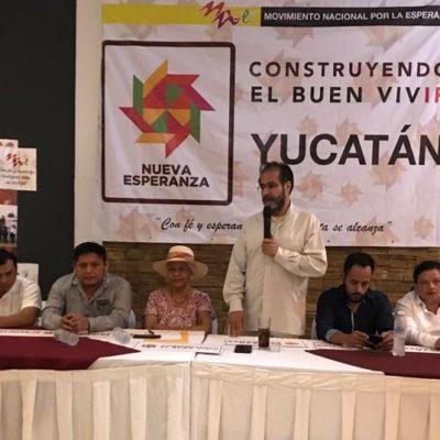Busca René Bejarano adeptos a su movimiento en Yucatán; defiende acuerdo Morena-PVEM en San Lázaro