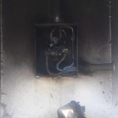 Estalla instalación eléctrica y deja sin agua a Cafetalito
