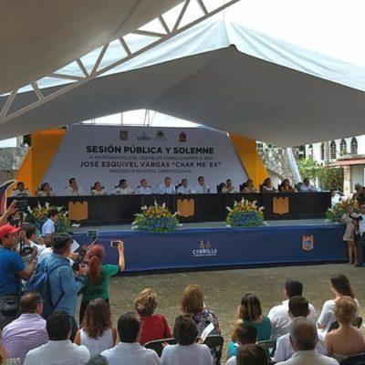 CAMBIO DE MANDO EN FELIPE CARRILLO PUERTO: José Esquivel toma protesta y se compromete a enfocar su gobierno a favor de la economía y turismo sustentable