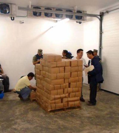 Decomisan en Yucatán mariguana y cigarros 'pirata' que tenían como destino Quintana Roo y Edomex