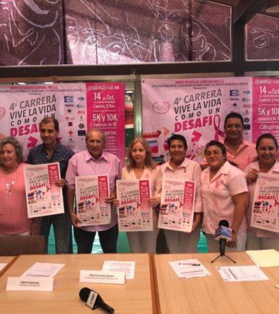Organizan carrera de lucha contra el cáncer de mama en Cancún