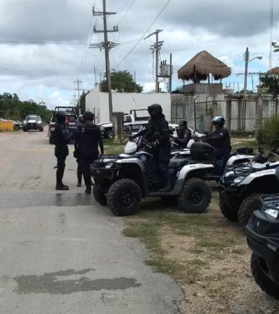 Fuerte movilización policiaca por conato de riña en Cereso de Playa del Carmen
