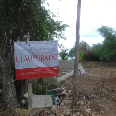 Clausura Profepa área de fiestas en Bacalar