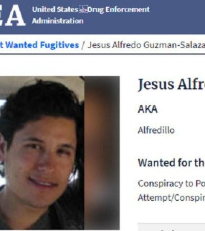 Incluye la DEA a 'Alfredillo', hijo del Chapo, en la lista de los 10 más buscados