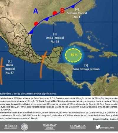 Zona de inestabilidad podría fortalecerse cuando ingrese a aguas del Golfo de México