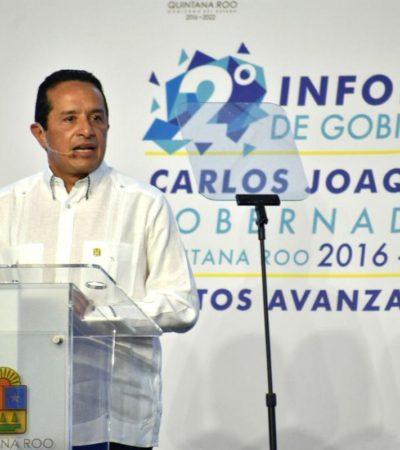 Costó 5.6 mdp la realización y cobertura del Segundo Informe de Carlos Joaquín en Quintana Roo