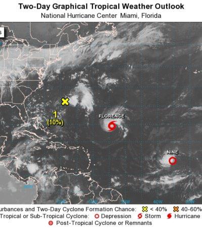 'Florence' se degradó a tormenta tropical; no es peligrosa para QR