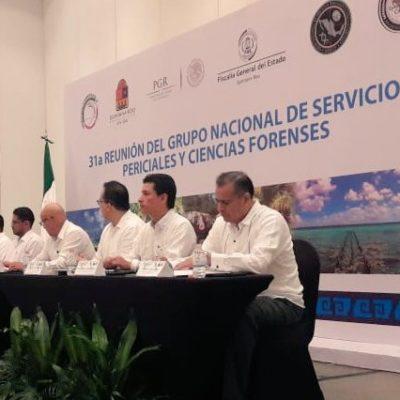 Con la ausencia del Fiscal, inauguran Foro Nacional de Servicios Periciales en Cancún